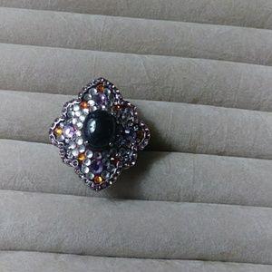 Garnet Austrian Crystal ring